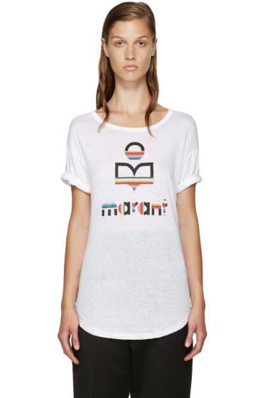Isabel Marant Etoile - White Linen Kolda T-Shirt