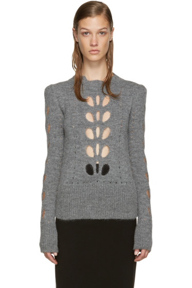 Isabel Marant - Grey Cut-Out Ilia Sweater