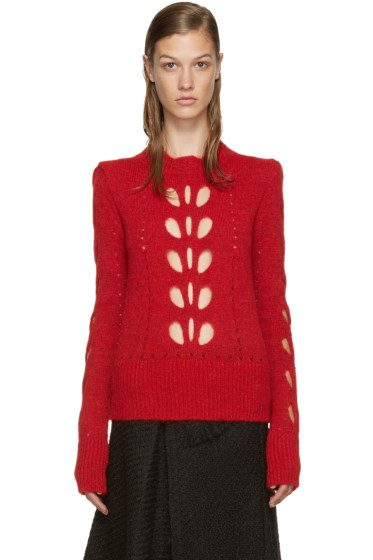 Isabel Marant - Red Cut-Out Ilia Sweater