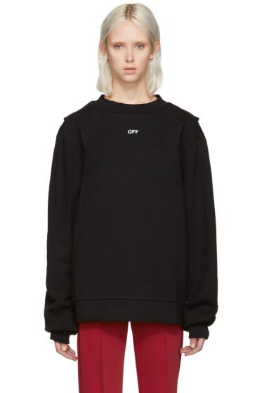 Off-White - Black Open-Back & Straps Pullover
