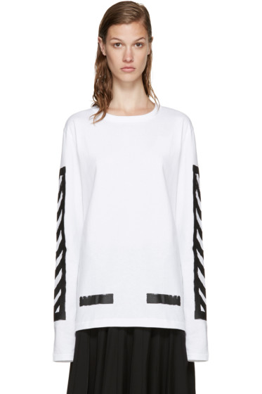 Off-White - White Brushed Diagonals T-Shirt