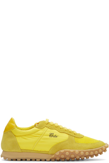 Off-White - Yellow Vintage Runner Sneakers
