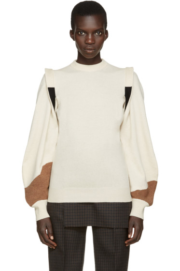 Toga - Beige Panelled Sweater