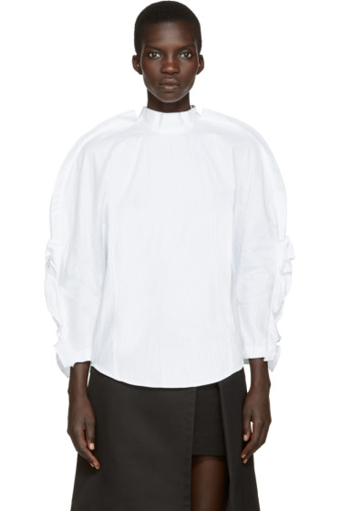 Toga - White Pleated Blouse