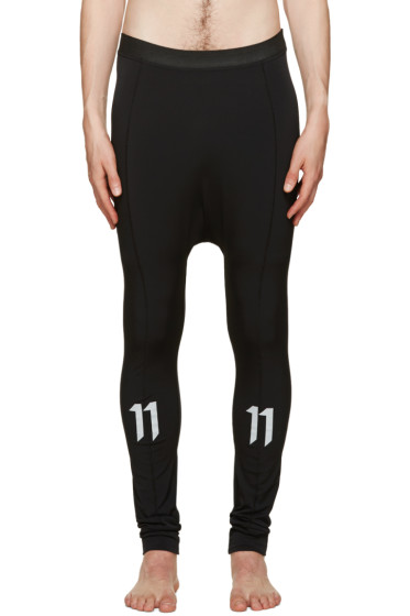 11 by Boris Bidjan Saberi - Black Reflective Leggings