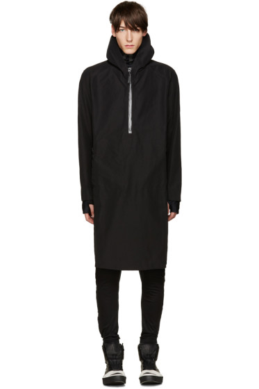 11 by Boris Bidjan Saberi - Black Zip Hooded Jacket