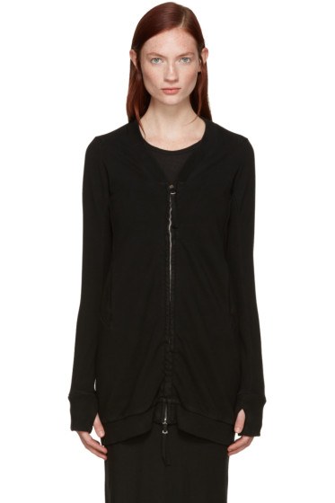Boris Bidjan Saberi - Black Zip-Up Sweater