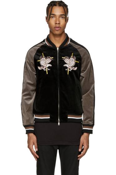 Diet Butcher Slim Skin - Reversible Black Souvenir Jacket
