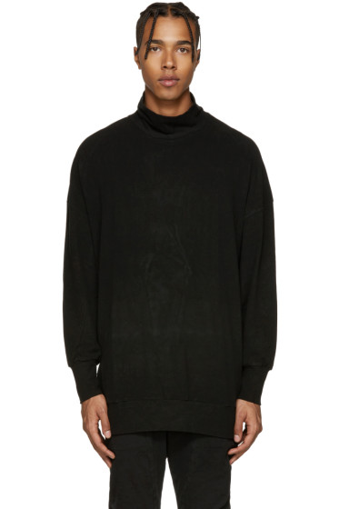 Diet Butcher Slim Skin - Black Sueded Jersey Turtleneck