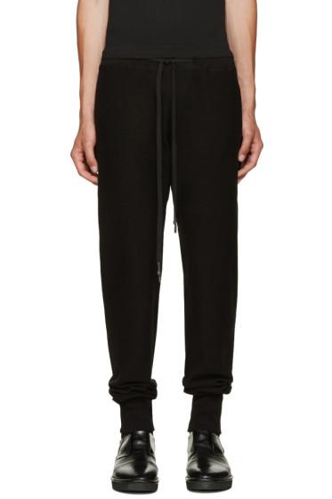 Nude:mm - Black Cotton Lounge Pants