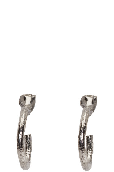 Pearls Before Swine - SSENSE Exclusive Silver Loop Earrings