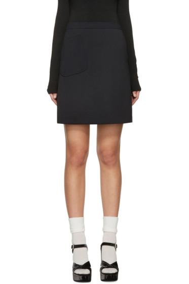 Jil Sander Navy - Navy Asymmetric Pocket Miniskirt