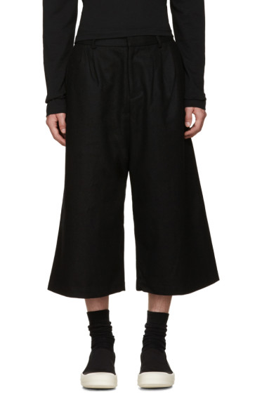 D by D - Black Wide-Leg Cropped Trousers