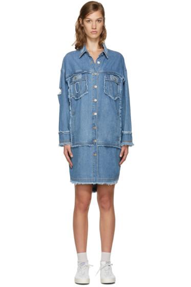 SJYP - Blue Denim Long Shirt