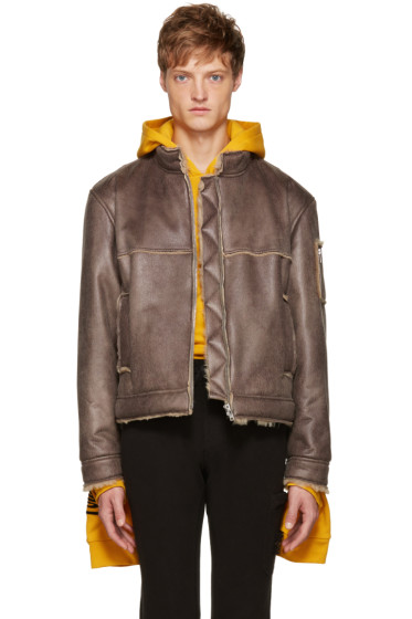 Gosha Rubchinskiy - Grey Faux-Shearling Jacket