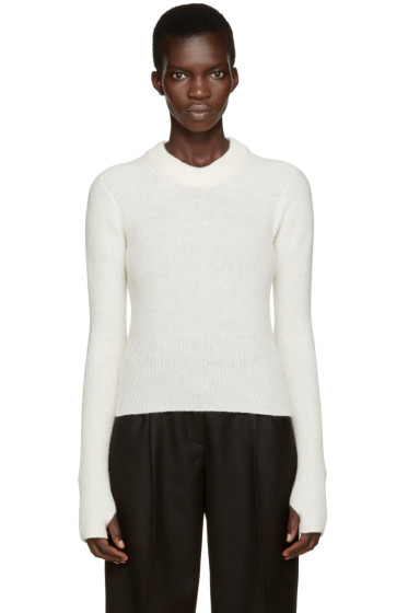 Lemaire - White Wool Short Sweater