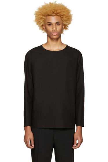 Lemaire - Black Poplin Shirt