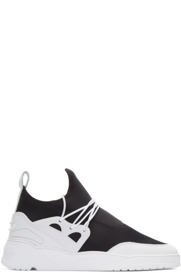 Filling Pieces - Black & White Astro Runner Jinx Sneakers