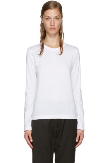 Comme des Garçons Comme des Garçons - White Long Sleeve T-Shirt