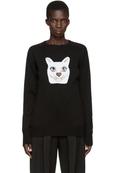 Loewe - Black Jacquard Cat Pullover