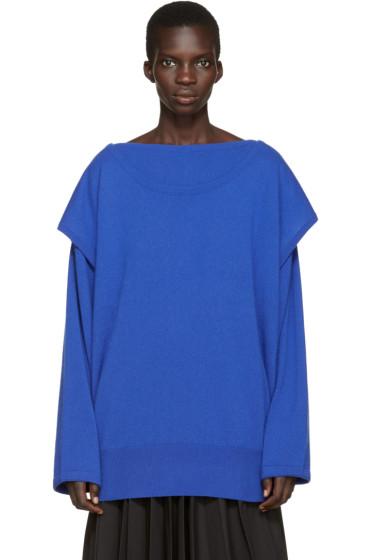 Loewe - Blue Cashmere Layered Sweater