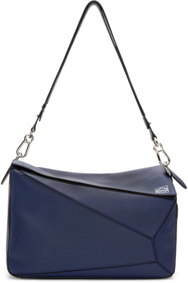 Loewe - Navy Extra Large Puzzle Bag