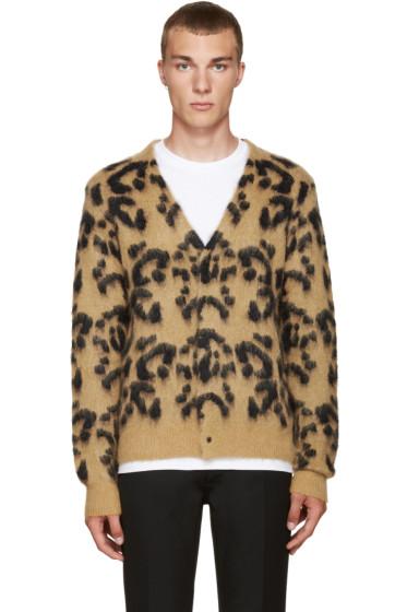Toga Virilis - Tan Mohair Leopard Cardigan