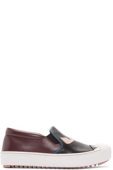 Fendi - Multicolor Bug Eyes Slip-On Sneakers