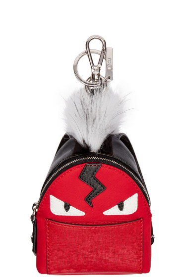 Fendi - Red Mini Backpack Keychain
