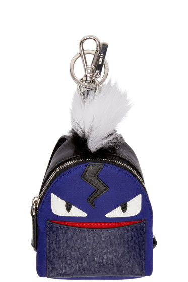 Fendi - Blue Mini Backpack Keychain