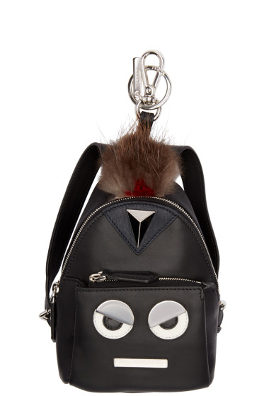 Fendi - Black Eye Don't Think So Mini Backpack Keychain