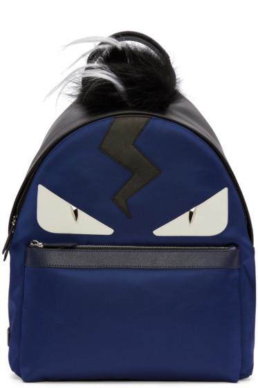 Fendi - Blue Monster Backpack