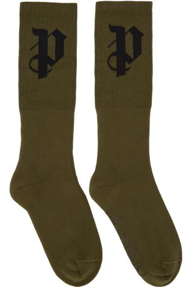 Palm Angels - Green PA Socks