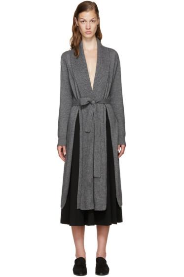Rosetta Getty - Grey Cashmere Shawl Cardigan