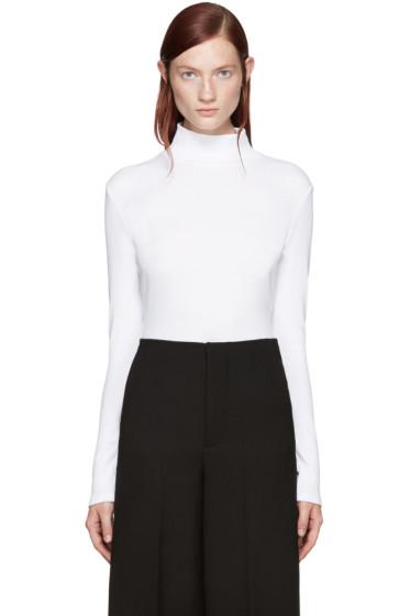 Rosetta Getty - White Mock Neck T-Shirt