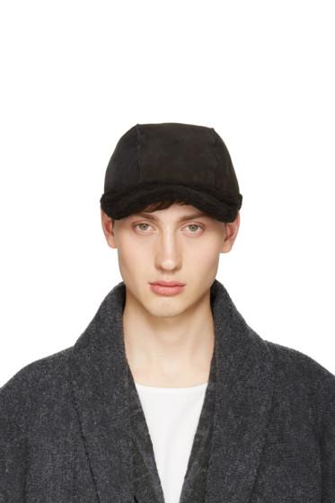 Issey Miyake Men - Black Shearling Cap