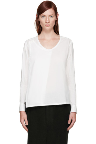 Y's - White Wrap Blouse