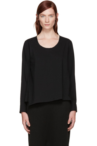 Y's - Black Wrap Blouse