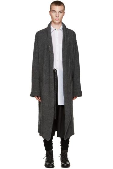 Isabel Benenato - Grey Knit Long Coat