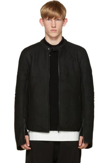 Isabel Benenato - Black Shearling Jacket