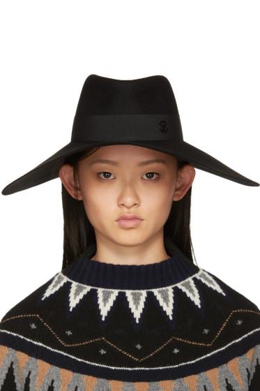 Maison Michel - Black Fara Capeline Hat