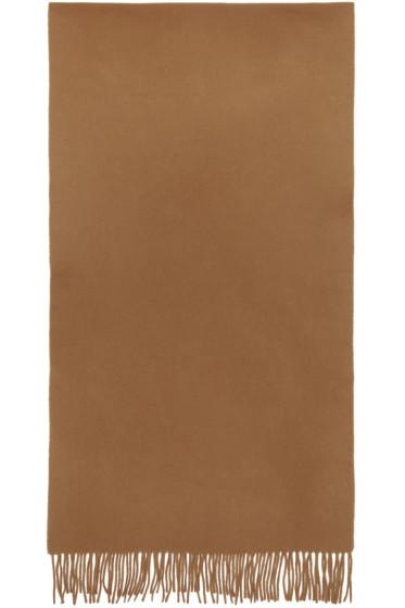 M.R. Editions - Brown Wool Scarf