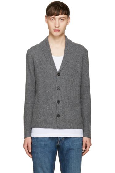 M.R. Editions - Grey Shawl Collar Cardigan