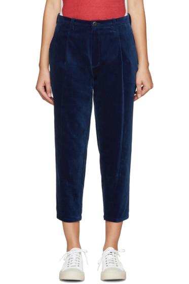 Blue Blue Japan - Indigo Velvet Trousers
