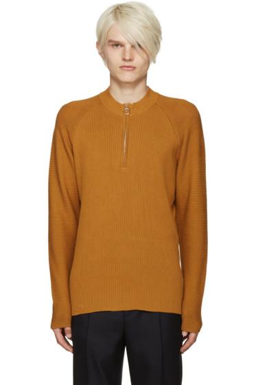 CMMN SWDN - Yellow Ivor Half-Zip Pullover
