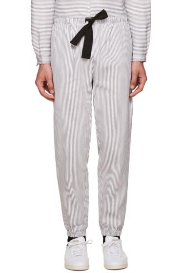Phoebe English - Grey & White Striped Lounge Pants