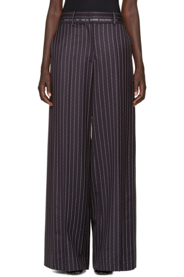 Alyx - Navy Wool Pinstripe Trousers