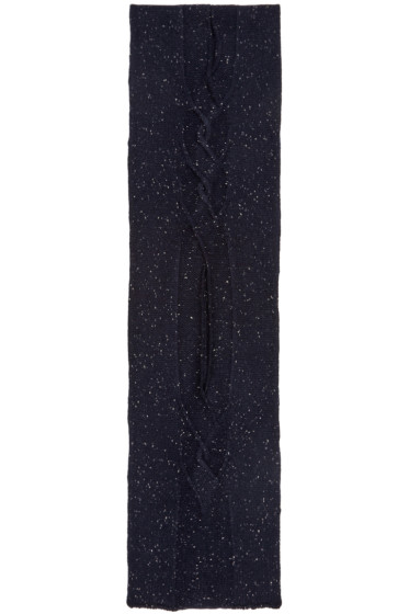 Ports 1961 - Navy Cable Knit Scarf