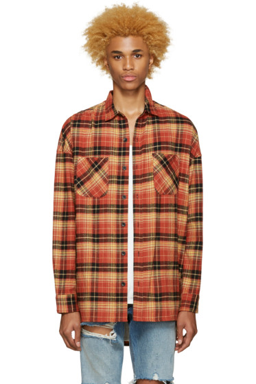 Fear of God - SSENSE Exclusive Orange 4th Collection Shirt