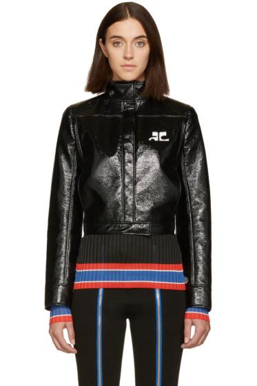 Courrèges - Black Glossy Logo Jacket